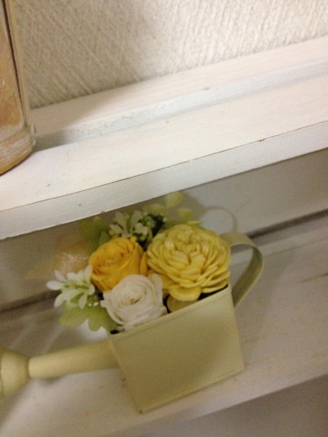 かわいいジョウロの花器
