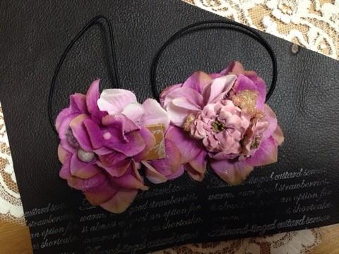 かわいい小花とアジサイを使ったヘアアクセサリー2