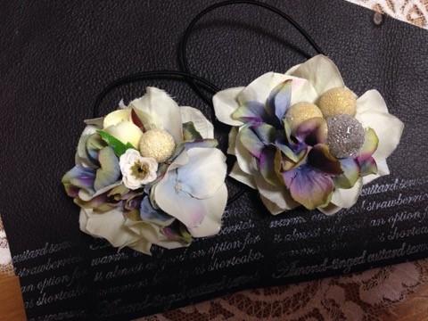 かわいい小花とアジサイを使ったヘアアクセサリー6
