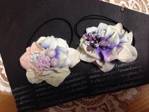 かわいい小花とアジサイを使ったヘアアクセサリー4