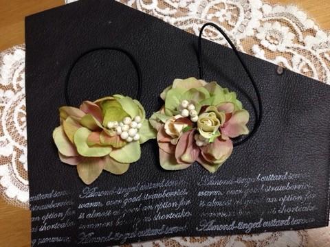 かわいい小花とアジサイを使ったヘアアクセサリー5