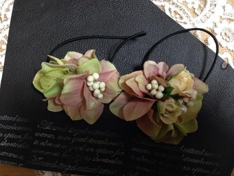 かわいい小花とアジサイを使ったヘアアクセサリー3