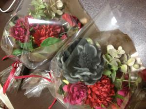 母の日のプレゼントと一緒に贈るアートフラワーのミニ花束♫2