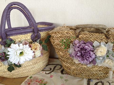 お花のバッグチャーム、簡単に装着できて使いやすいアクセサリー2