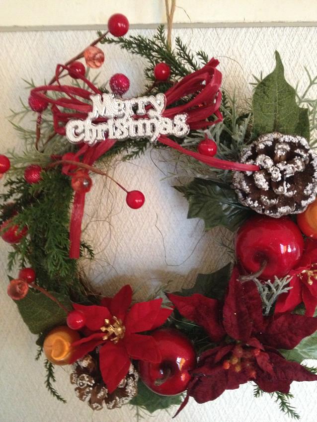 定番!クリスマスリース~赤と緑の王道
