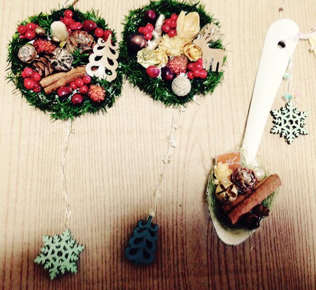 クリスマスにあわせた可愛いチャーム♫プリザーブドフラワーアレンジ
