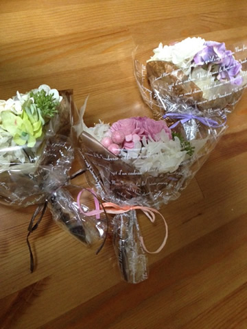3種類の花束(全体)