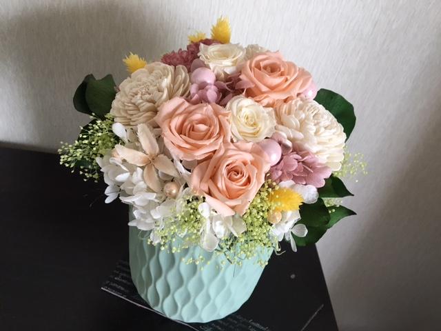 プリザーブドフラワーで作る供花