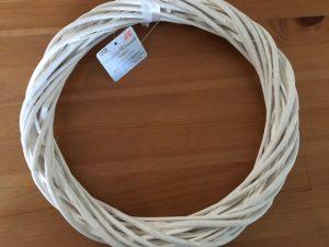 柳のリース[ホワイト、直径30cm] [JANコード:4549131424973]
