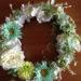 100均の造花を使ったフラワーリースの作り方